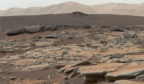 Mars Curiosity Rover Lake